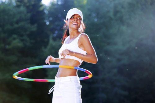 Применение обруча для похудения